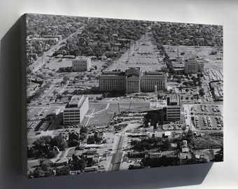 Canvas 24x36; 1963 Oklahoma State Capitol