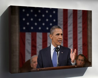 Canvas 24x36; President Barack Obama Delivers The 2011 State Of The Union Address