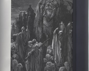 Canvas 24x36; Jacob Goes To Egypt From Gustave Dore English Bible 1866