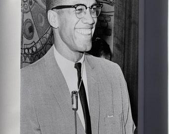 Canvas 16x24; Malcolm X 1964