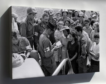Canvas 16x24; Us Army Medics In Orleans, France 1944