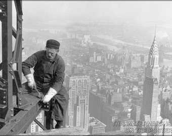 16x24 Poster; Steel Worker Empire State Building C1930
