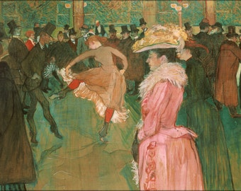 16x24 Poster; Henri De Toulouse Lautrec, French At The Moulin Rouge The Dance