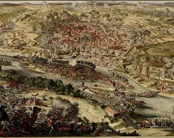 16x24 Poster; Map Of Siege Of Vienna, Austria