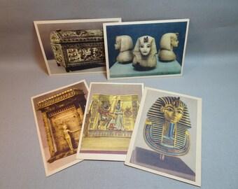 RARE Lehnert and Landrock King Tut Postcard Set Series I Tutankhamen's Treasures