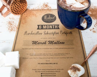 Three Or Six Month Gourmet Marshmallow Subscription