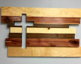 Cross, wall hanging, wall art, reclaimed