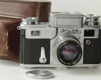 KIEV IIIA Vintage Rangefinder Camera jupiter-8 & Case И568533