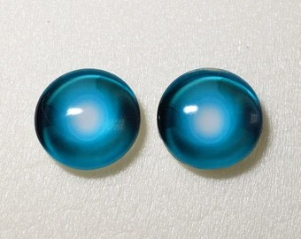 Taxidermy Glass Eyes - Cabochons for Steampunk, Jewelry, Pendant, Toys, Dolls. Hemispherical, BJD, Furry