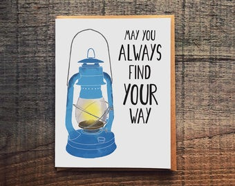May You Always Find Your Way - Lantern - Support Encouragement Card