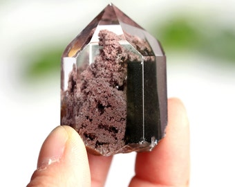 Rare Red and Golden Rutilated Quartz Point/ Rutilated Inclusions Crystal #2043