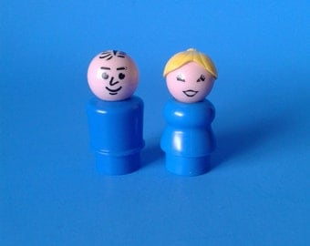 "Fisher Price Little People "" Man & Woman "" 1970's"