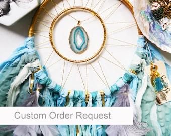 """Custom Order Your 8"""" Dream catcher - handmade unique boho decor"""