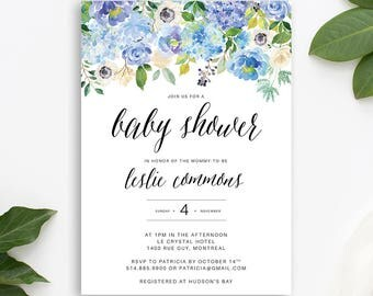 Baby shower, baby shower invite, invitation, girl baby shower, printable, boy baby shower, printable invitation, floral baby shower, invite
