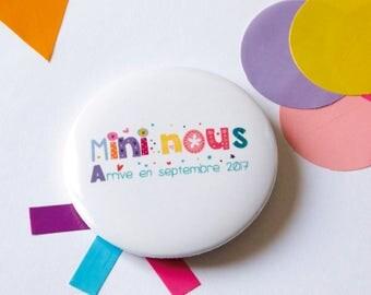Badge mini pregnancy announcement we