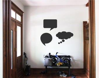 Speech Bubbles Wall Decal-Chalkboard Decal-Chalkboard Speech Bubbles-Wall Stickers