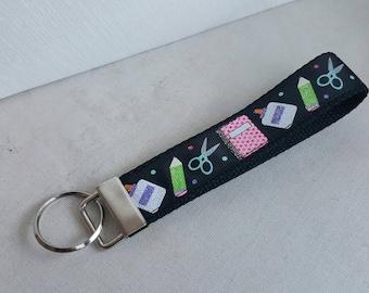 Teacher Key fob, key chain, teacher gifts, key wristlet, arts and crafts, swanky bands