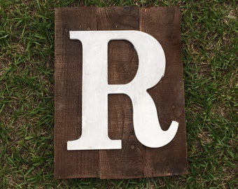 Wood letter wall sign, Intial Letter Wood Sign, Last Name Sign, Wood Sign