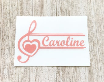 Music Decal | Music Monogram | Monogram Decal | Yeti Cup Decal | Personalized Sticker | Custom Decal | Car Decal | Vinyl Decal