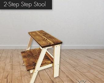 Farmhouse 2-Step Stepstool