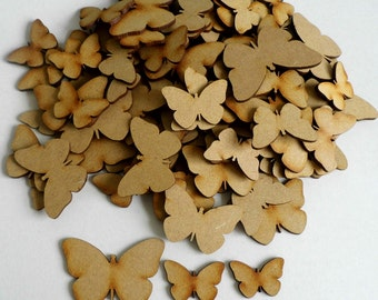 Assorted MDF Butterfly shapes - Lot of 50