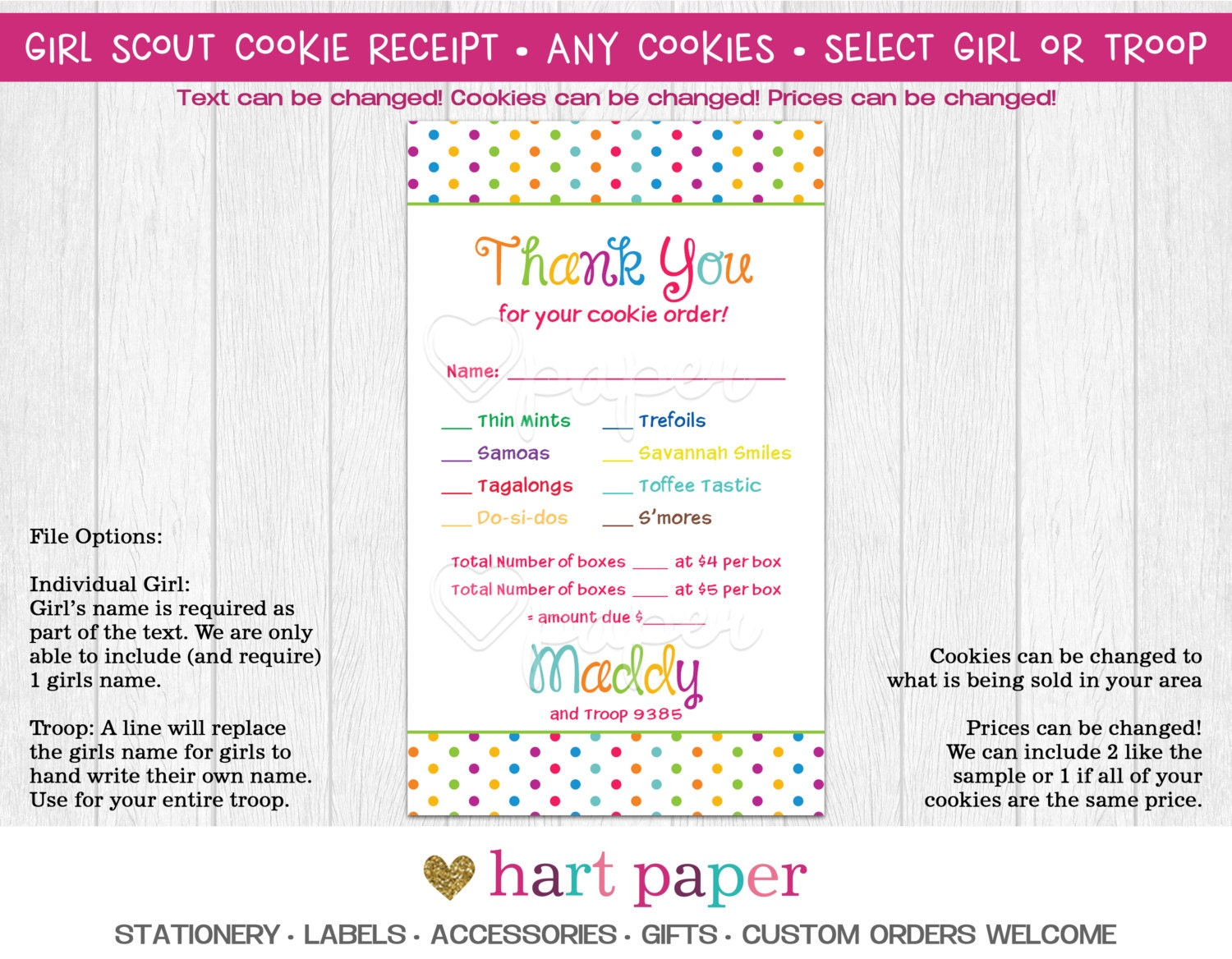 Scout Cookie Sales Receipt Template 28 Images Scout Troop Cookie