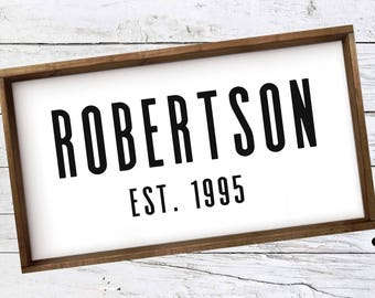 Personalized Wood Sign|Small|Framed