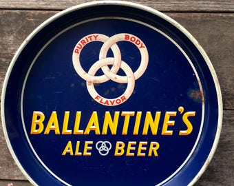 Vintage Beer Tray - Ballantine Beer