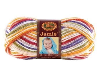 Yarn - LIon Brand Jamie - Pastel Stripes, Caribbean Stripes or Mardi Gras Stripes