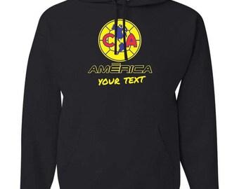 America Aguilas Mexico Hooded Sweatshirt Hoodie Hoody Sudadera With Custom Text(optional)