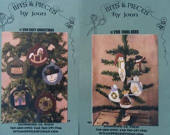 2 Wool Christmas Ornaments Kits
