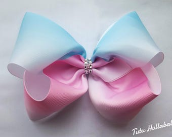 Ombre Mega bow - large hair bow - big bow - hair clip with fade out