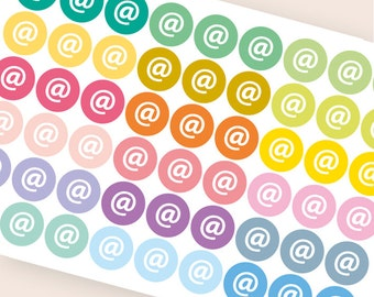 54 email stickers, planner stickers, reminder office stickers, mail letter stickers, mailbox stickers eclp filofax happy planner kikkik