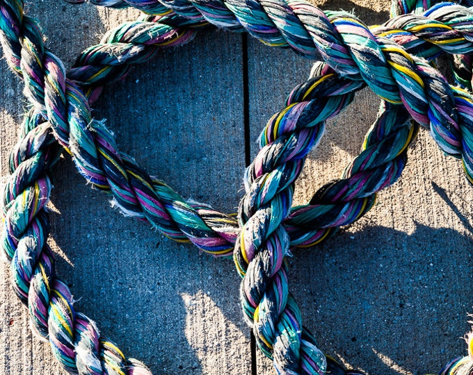 COLORFUL ROPE | modern fine art photography blank note cards custom books interior wall decor affordable pictures –Rick Graves