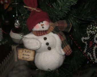 Snowman Decoration - Ornament - Holiday - Christmas
