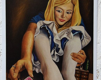 Eat Me Alice in Wonderland A4 Print