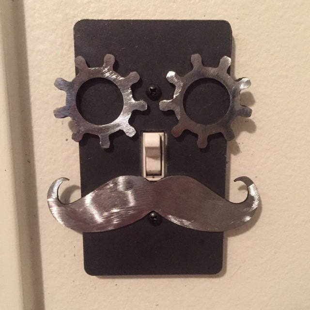 Steampunk Light Switch Covers Industrial By Steampunkinteriors