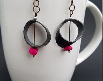 Upcycled Bike Tube Earrings