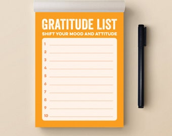 Recovery Gifts: Gratitude List Notepad (35)