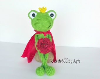 frog crochet pattern, frog amigurumi, crochet frog, crochet pattern