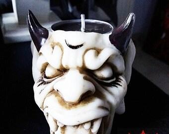 devil head candle holder