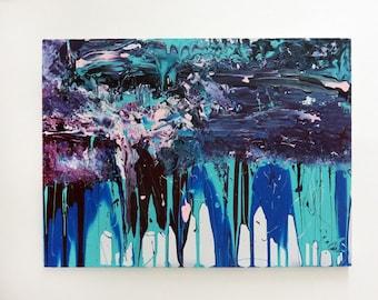 Falling sunset, Original abstract painting, Modern art, Abstract art, Abstract painting, Abstract canvas art, Original painting.