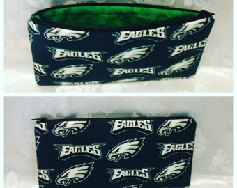 Free shipping Eagles pencil case with black zipper 100% Cotton