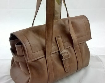 Ladies Leather Handbag. The Jayne. Hand-crafted. Quality leather. Linen Lining.