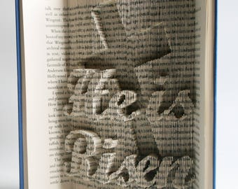 Easter Book Folding Pattern He Is Risen: Book Folding Tutorial, Cut and Fold, Free printable downloads to personalise your book art