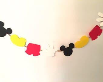 Mickey Mouse Birthday Decorations Hands Feet Head Pants Banner