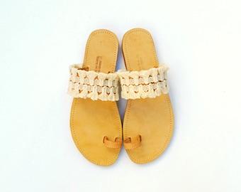 Tassel sandals - Boho sandals - Bohemian tassels sandals - Greek sandals - Womens sandals - Summer shoes