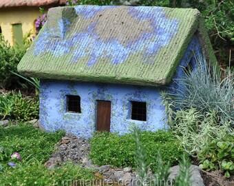 Thistle Cottage for Miniature Garden, Fairy Garden