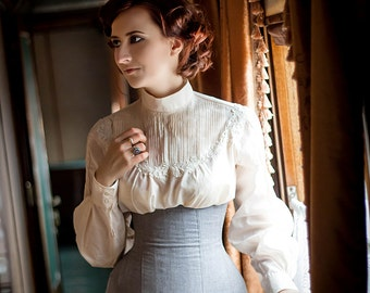 Edwardian style costume corset skirt Made to order