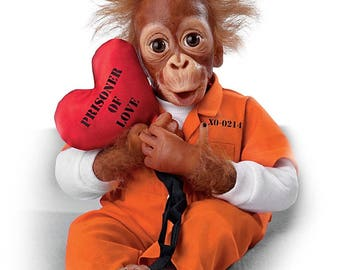 Ashton Drake - Prisoner Of Love So Truly Real Monkey Doll by Simon Laurens